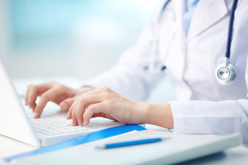 istock Medical person typing 179210469