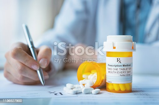 istock Medical prescription 1136527900