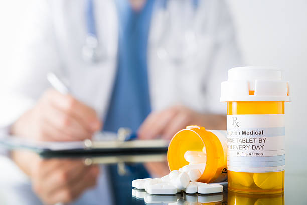 medical prescription - prescription medicine stock pictures, royalty-free photos & images