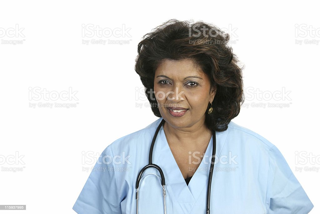 Medical Professional Concerned royalty-free stock photo