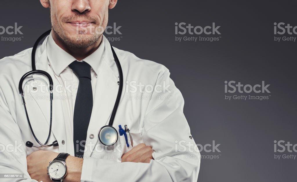 Medicinsk professionell här för att hjälpa royaltyfri bildbanksbilder