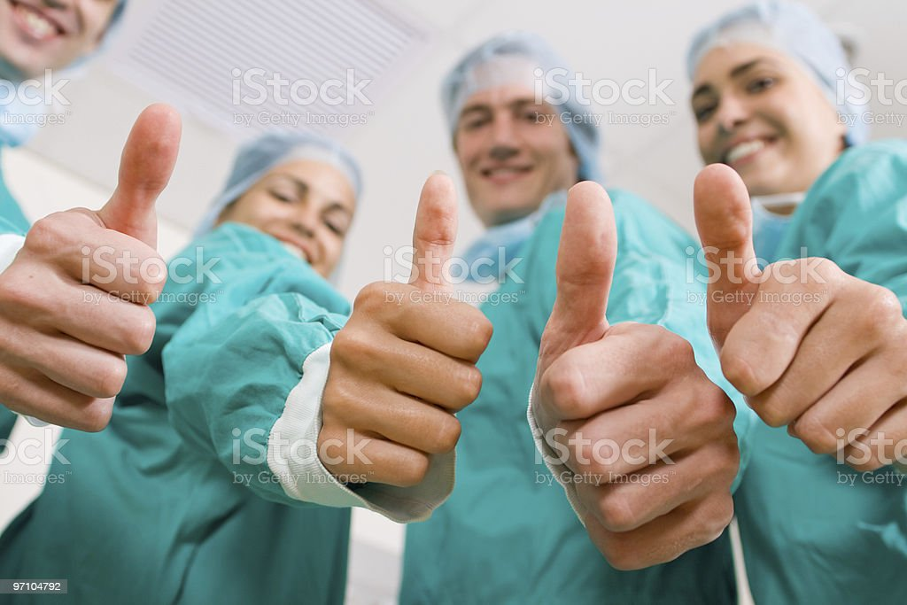 medical professional team stock photo