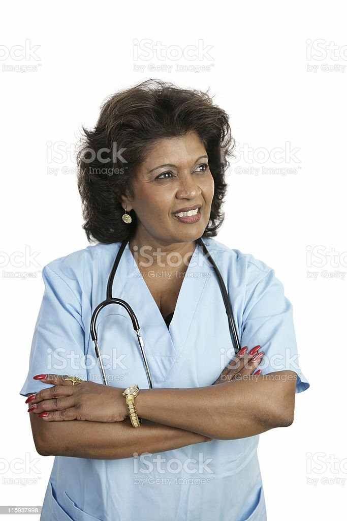 Medical Professional - Thoughtful royalty-free stock photo