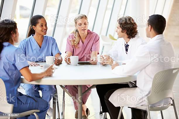 Medical professionals talking in a cafeteria picture id177806097?b=1&k=6&m=177806097&s=612x612&h=wiccuqmjfg5o9i pewjpsnb0nu6fhlzn3lgronbxn3c=