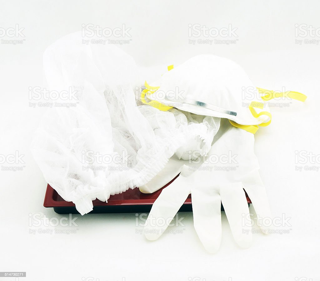 Medical protective equipment stock photo