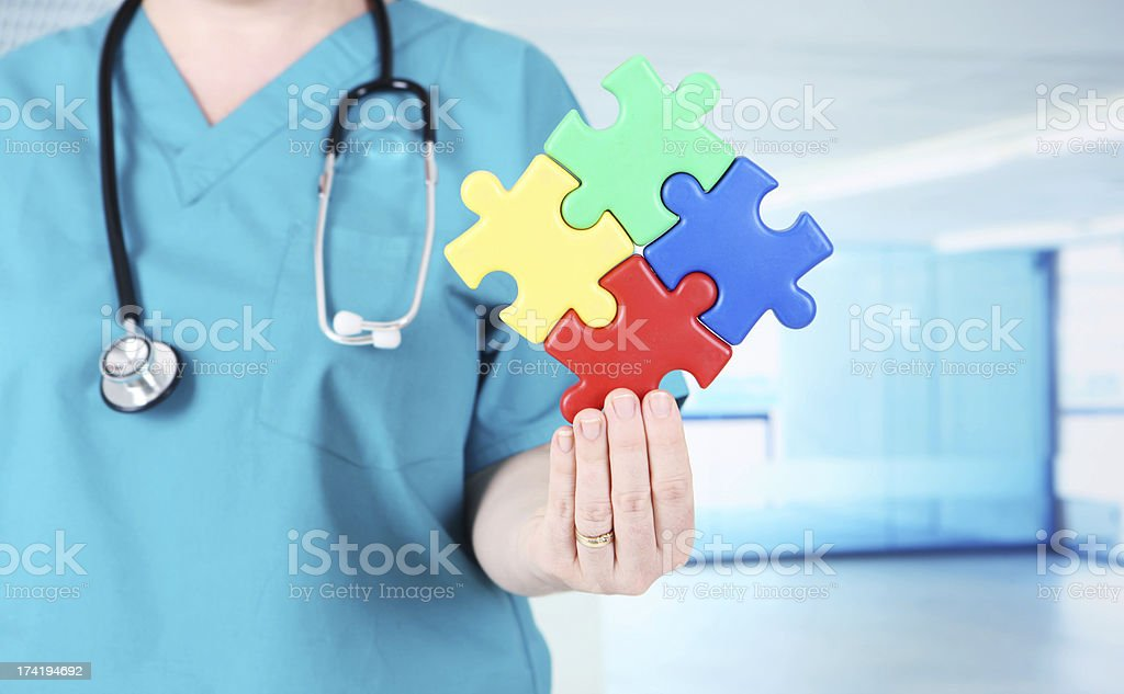 Medical Puzzle royalty-free stock photo