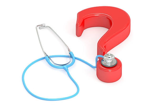 medical question concept, 3d rendering - gesundheitsfragen stock-fotos und bilder