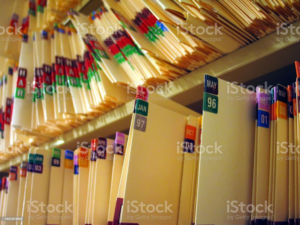 Medical Records 2 stock photo