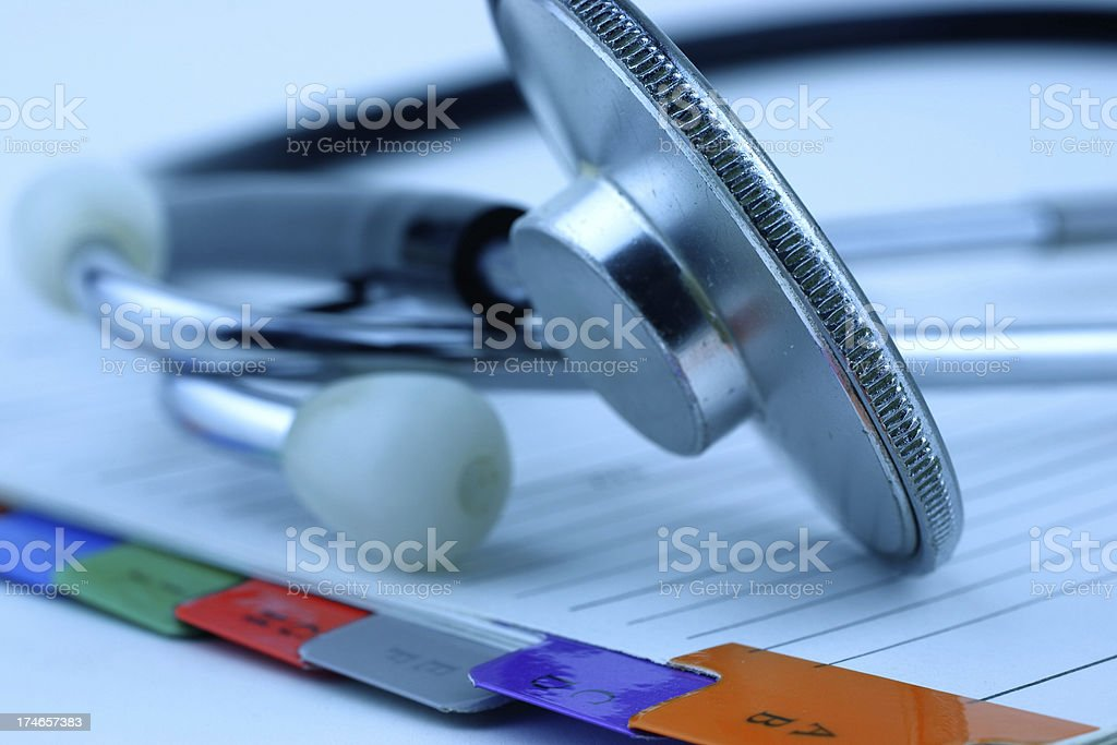 Medical records royalty-free stock photo