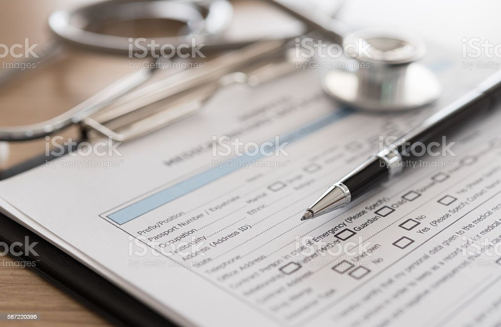 Medizinische Aufzeichnungen – Foto