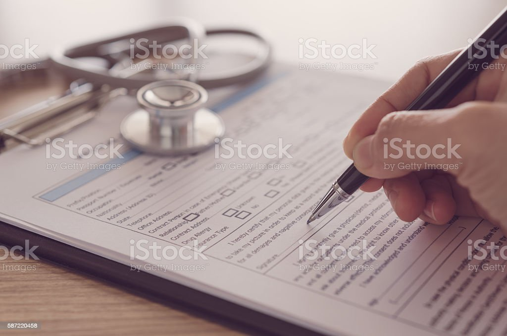 medical records stock photo