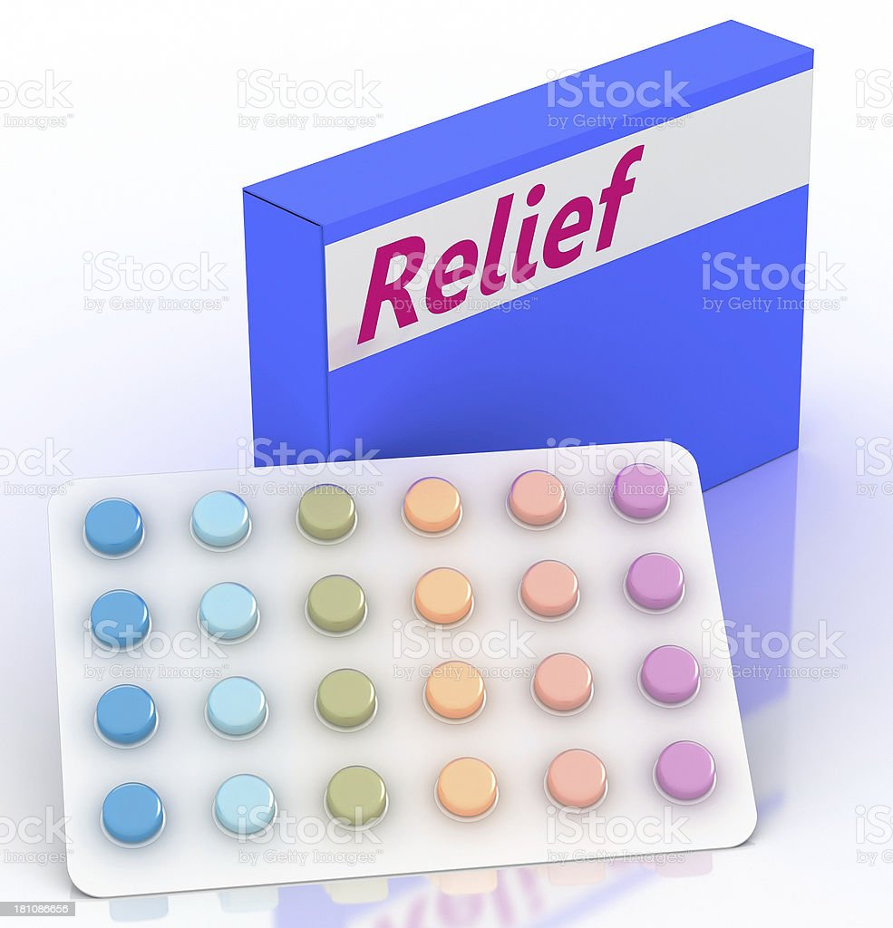 Medical Relief royalty-free stock photo