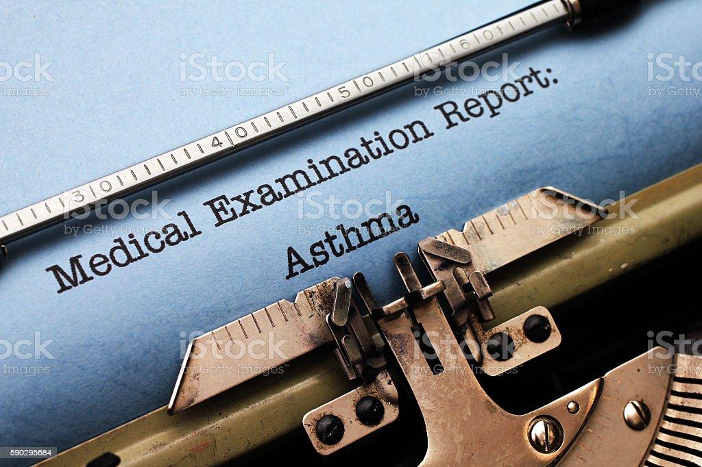 Медицинский отчет-астма Стоковые фото Стоковая фотография