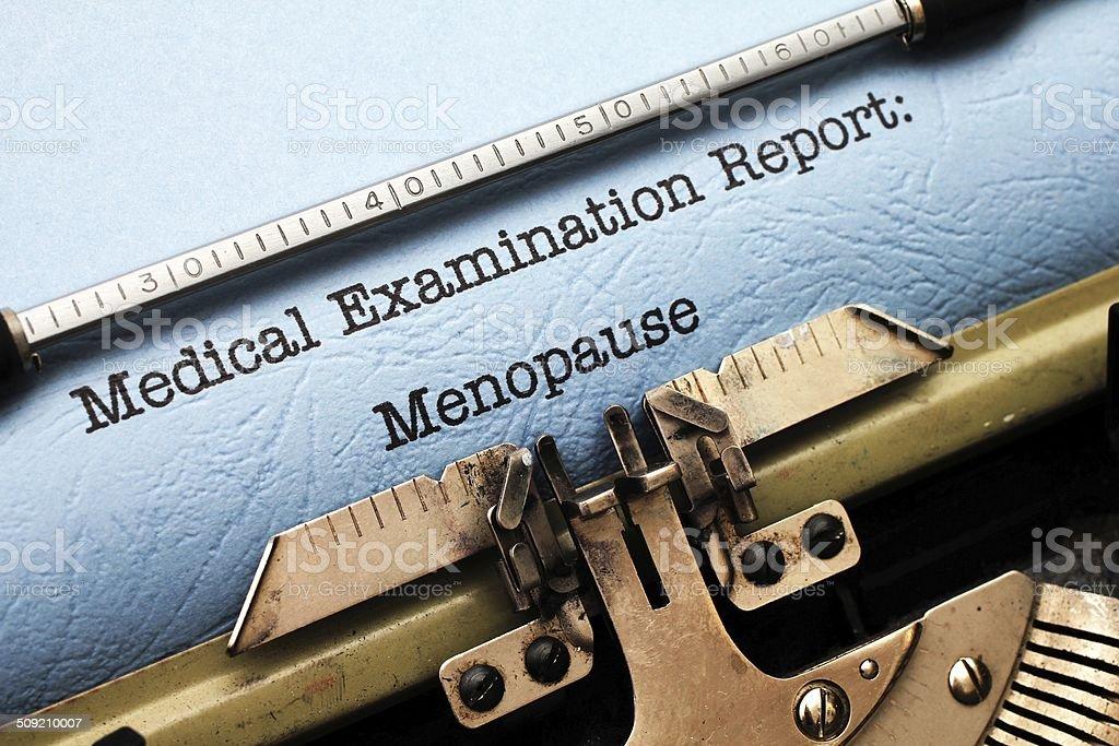 Medical report - menopause stock photo