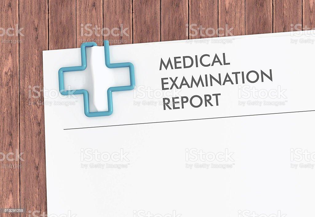 医療機器報告書テンプレートにクロスペーパークリップ ストックフォト