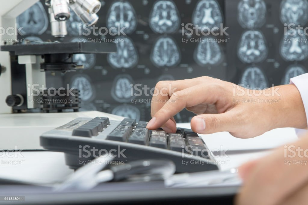 Medical research laboratory biotechnology test lab stock photo