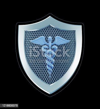 istock Medical Safety Emblem 1218835375