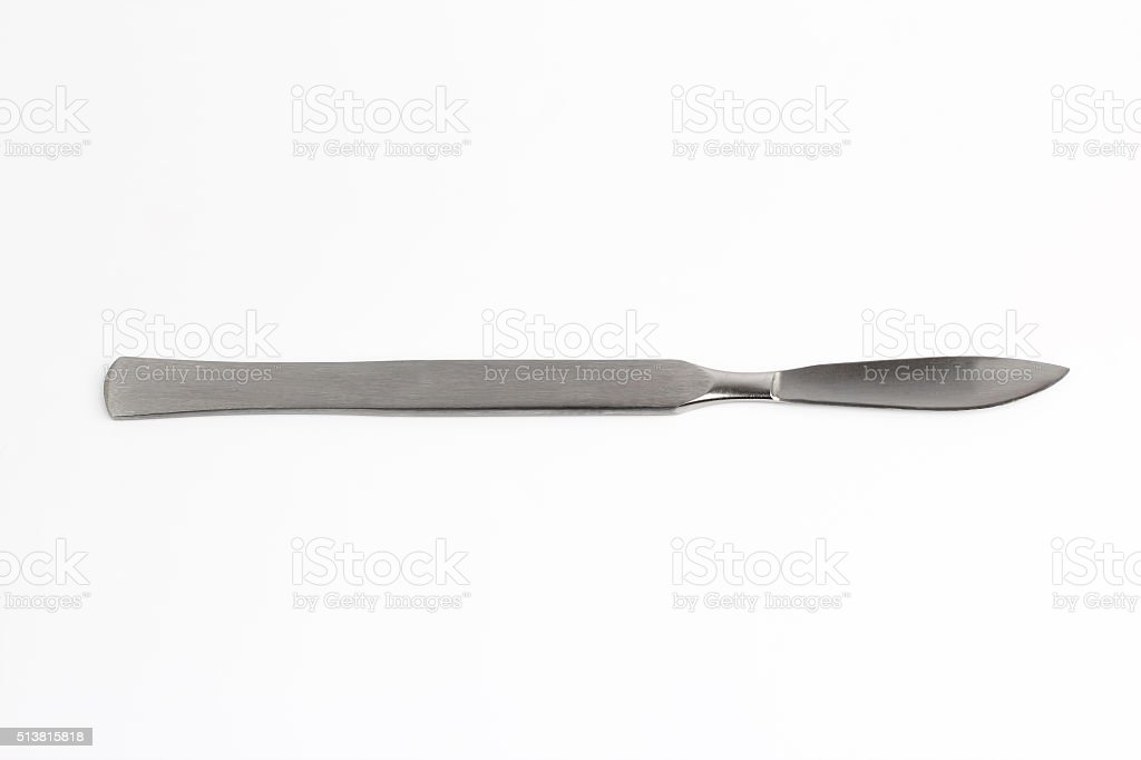 medical scalpel on a white background stock photo