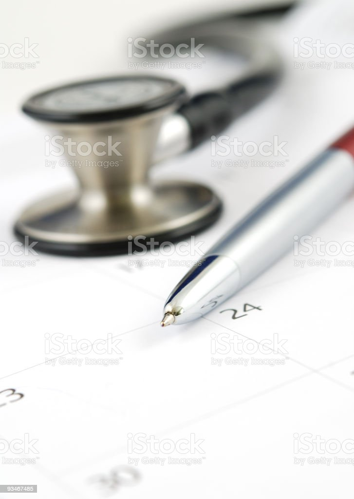 Medical schedule royalty-free stock photo