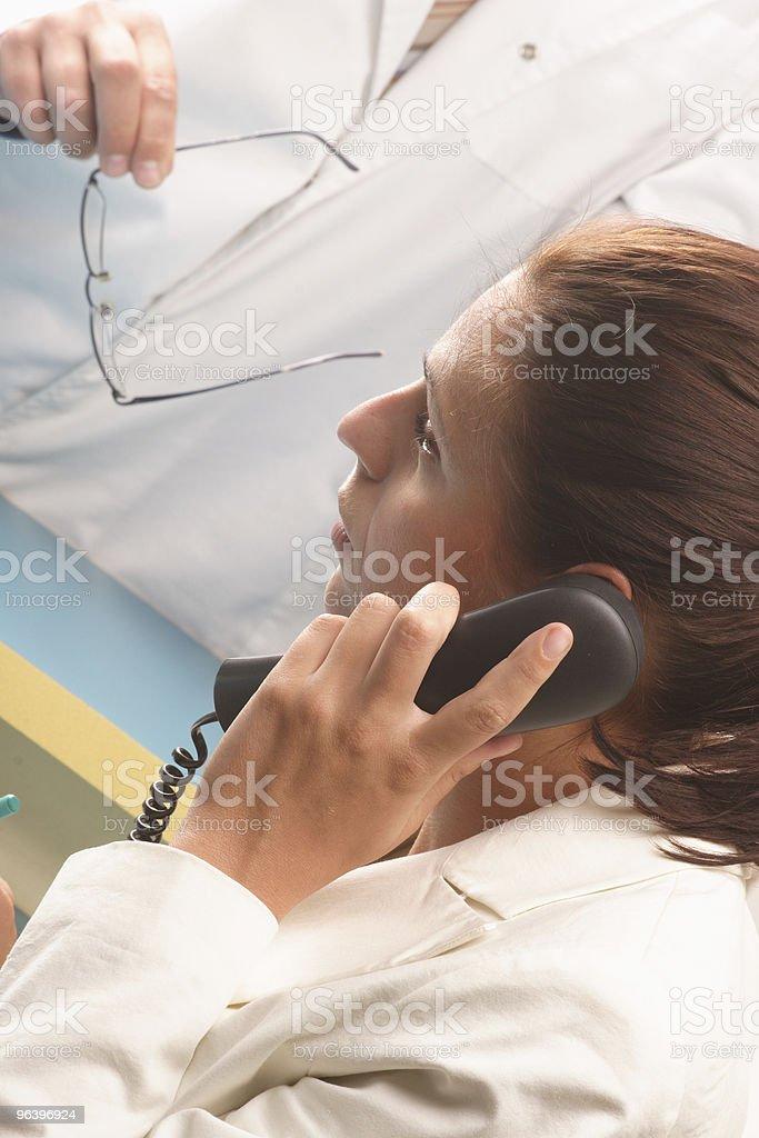 Medical secretary on the phone royalty-free stock photo