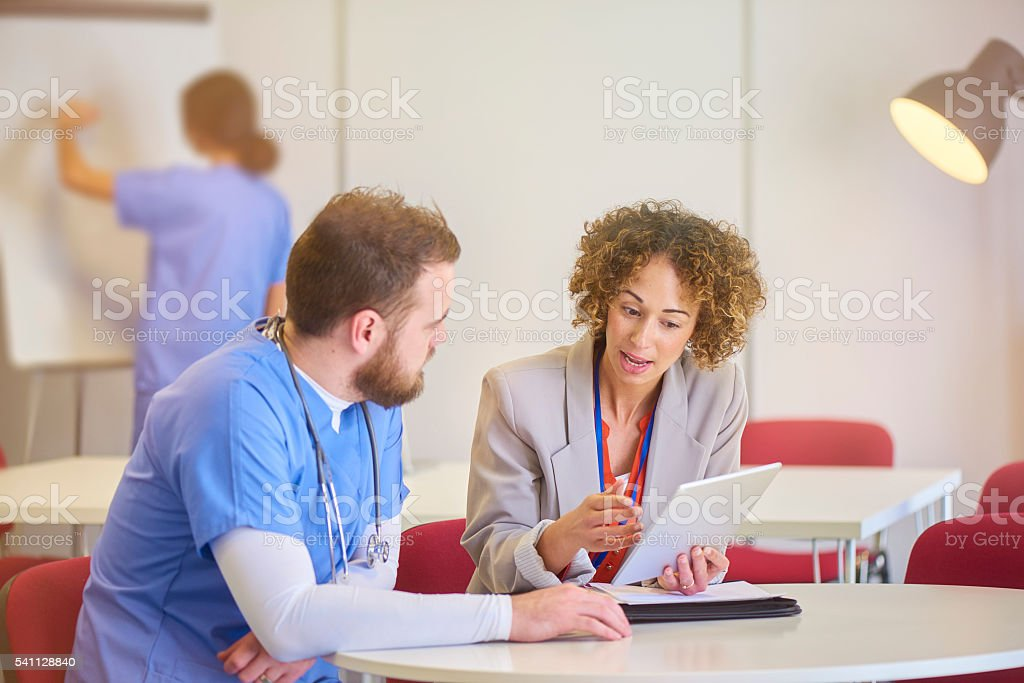 medical staff appraisal stock photo
