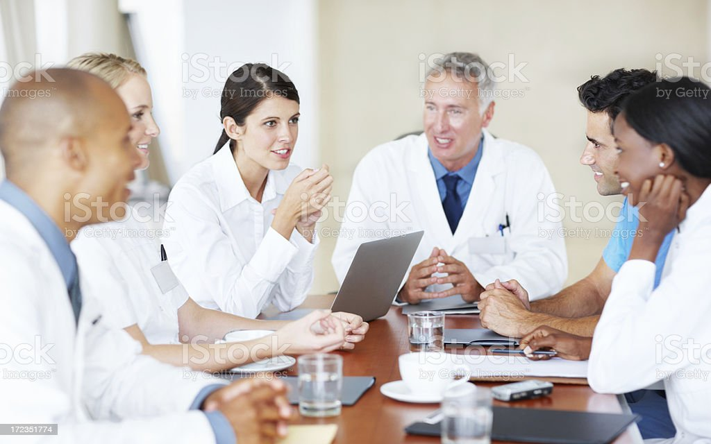 Medical staff discussions royalty-free stock photo