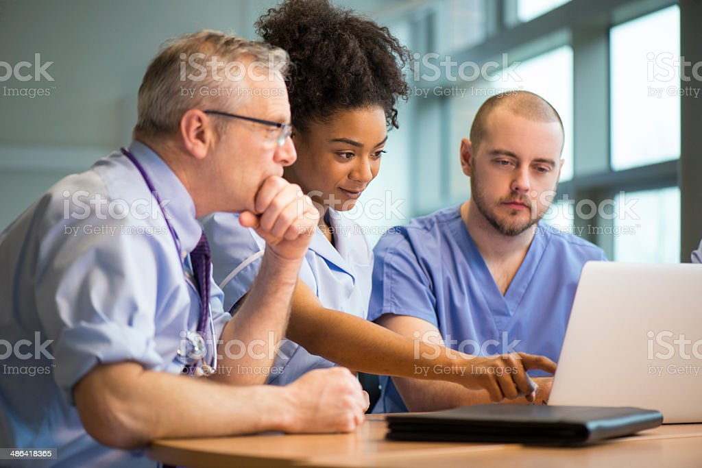 medical staff meeting stock photo