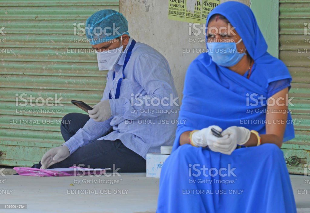 India: Curfew after COVID-19 case in Beawar - Royalty-free Adult Stock Photo