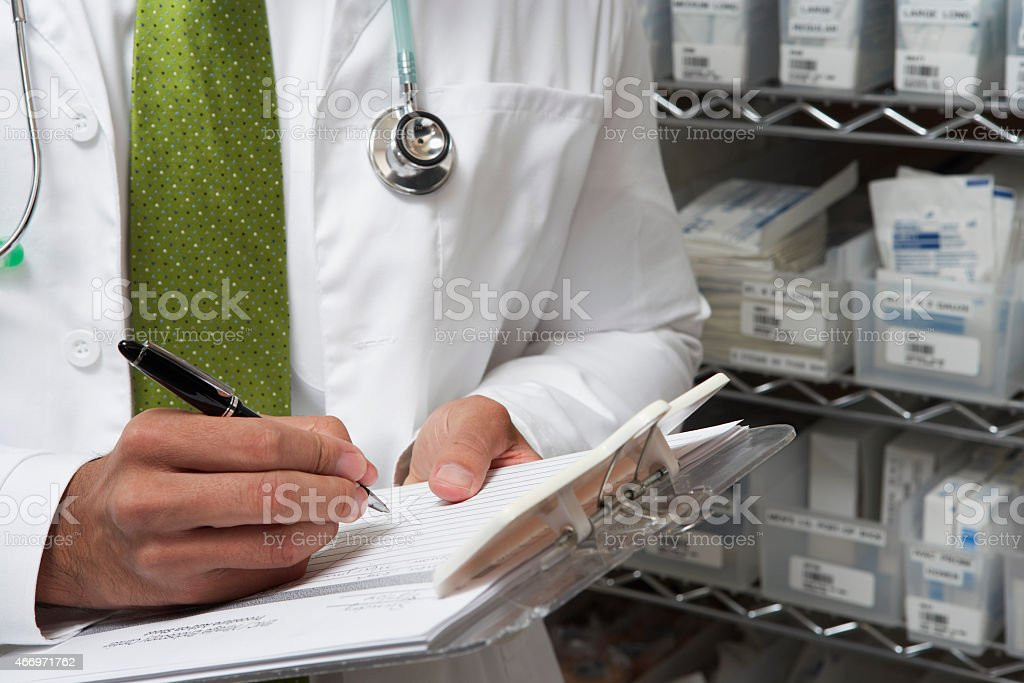 Medical Staff working stock photo