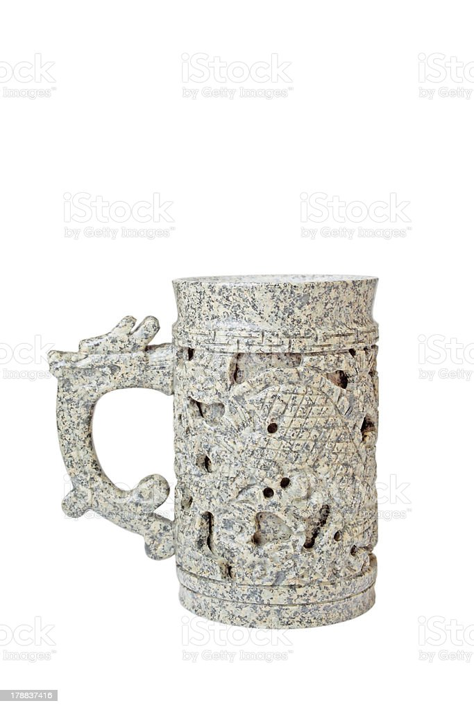 medical stone care cup royalty-free stock photo