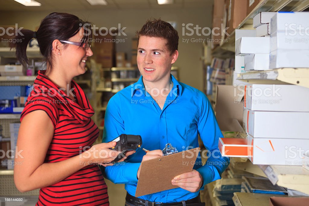 Medical Store - Inventory Personal royalty-free stock photo