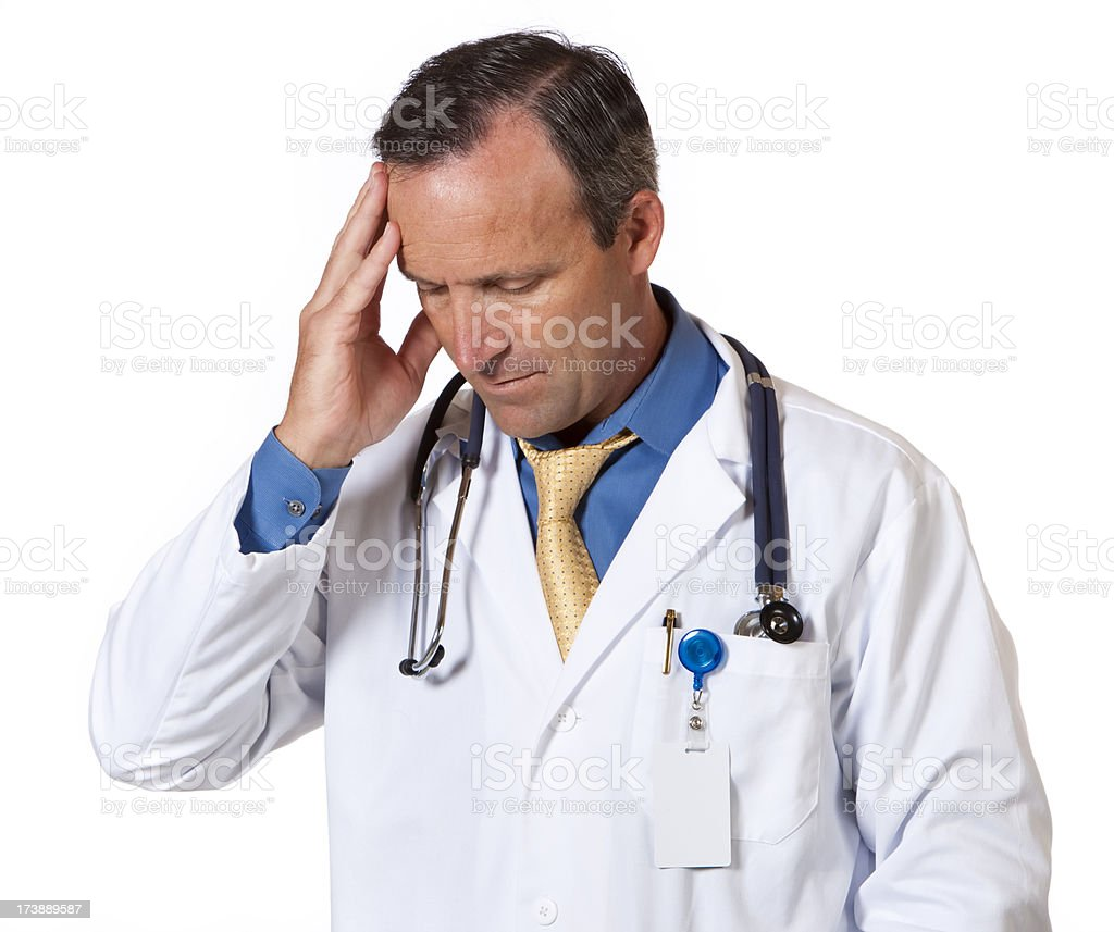 Medical: Stressed Out Doctor royalty-free stock photo