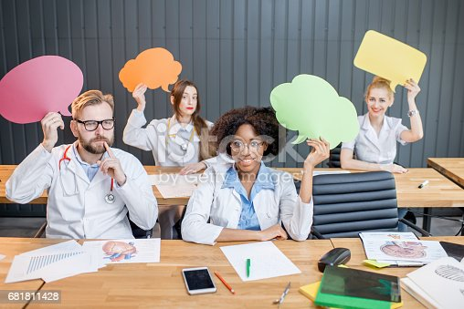 638013502istockphoto Medical students at the classroom 681811428