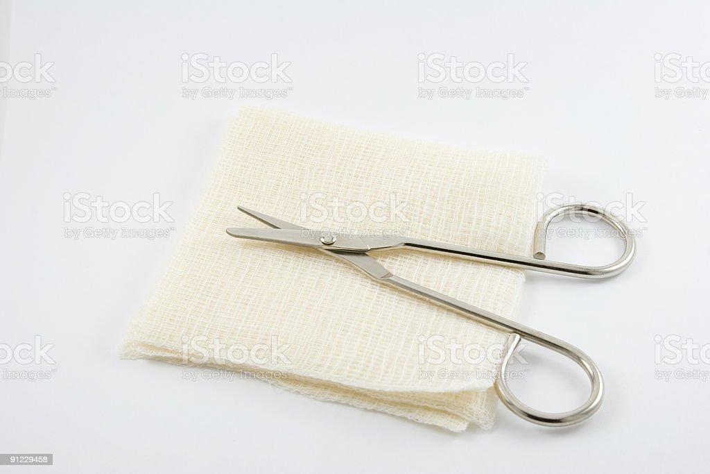 Medical Supplies, Bandage Sheers royalty-free stock photo