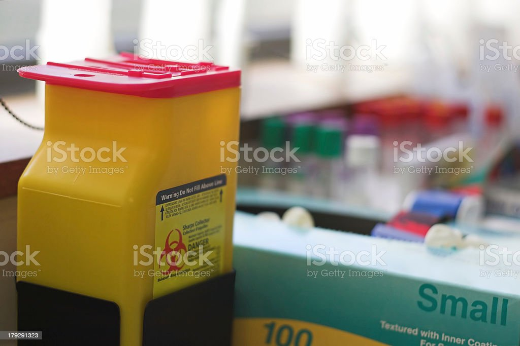 Medical supplies used for pathology stock photo