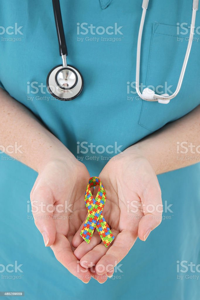 Medical Support for Autism stock photo