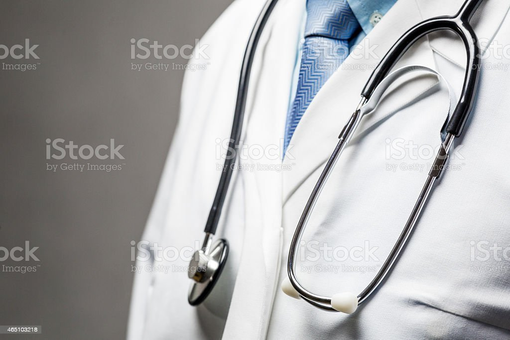 Medical symbol - Doctor with stethoscope stock photo