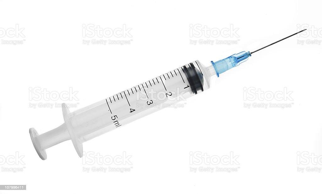 Medical syringe stock photo