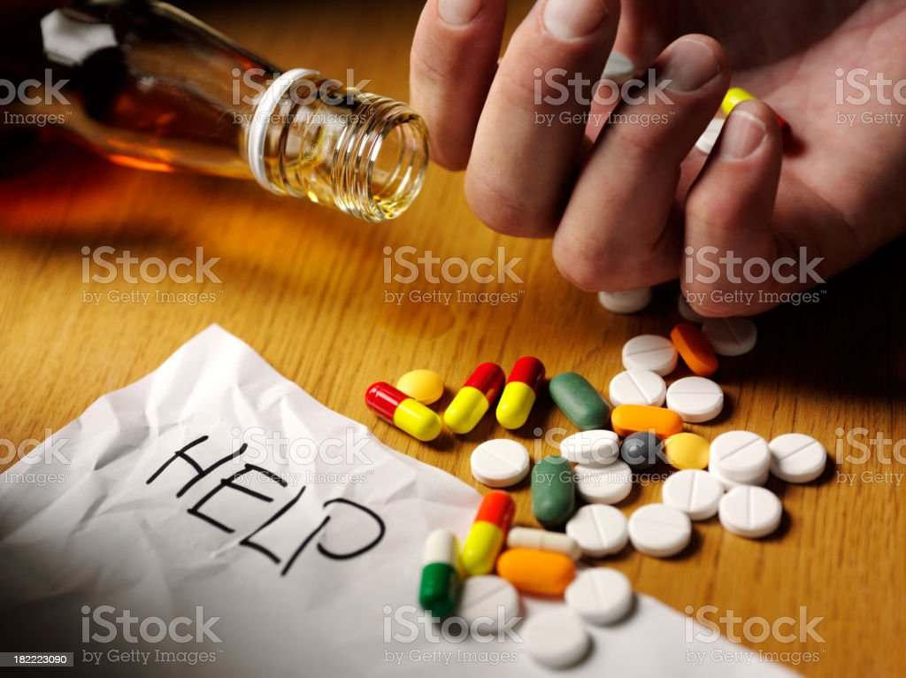 Medical Tablet Overdose stock photo