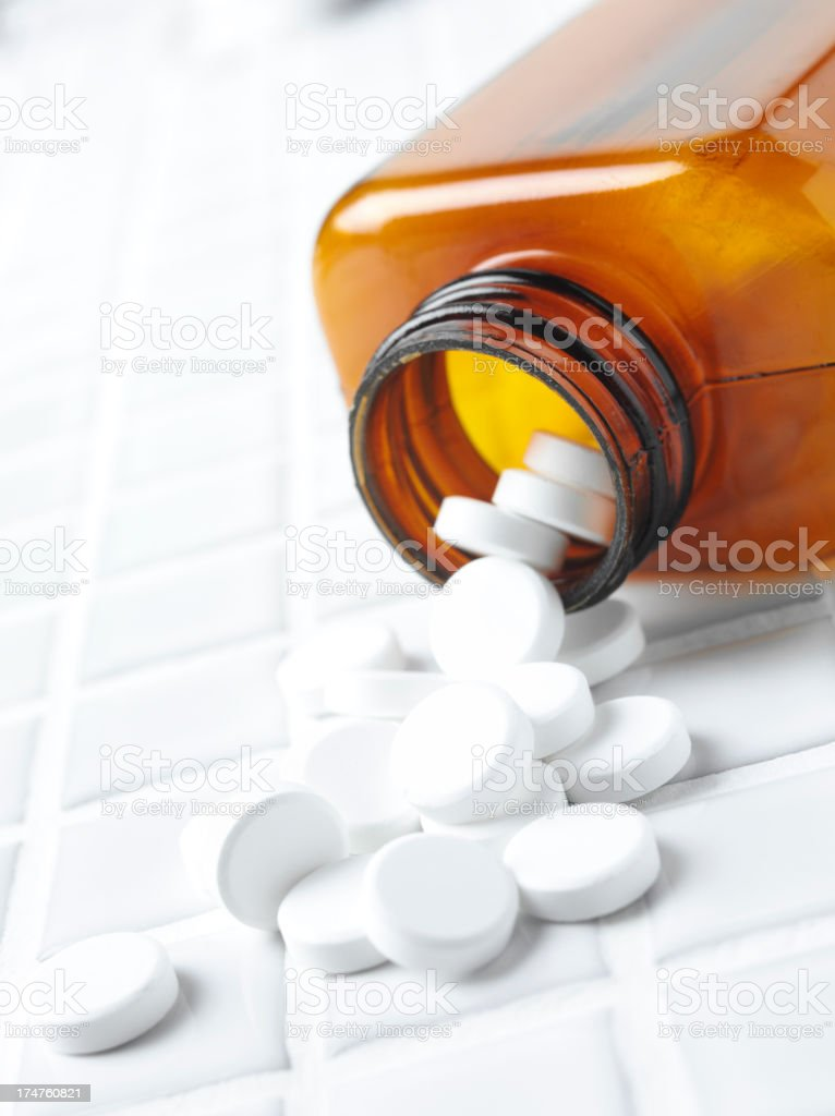 Medical Tablets in a Bottle royalty-free stock photo