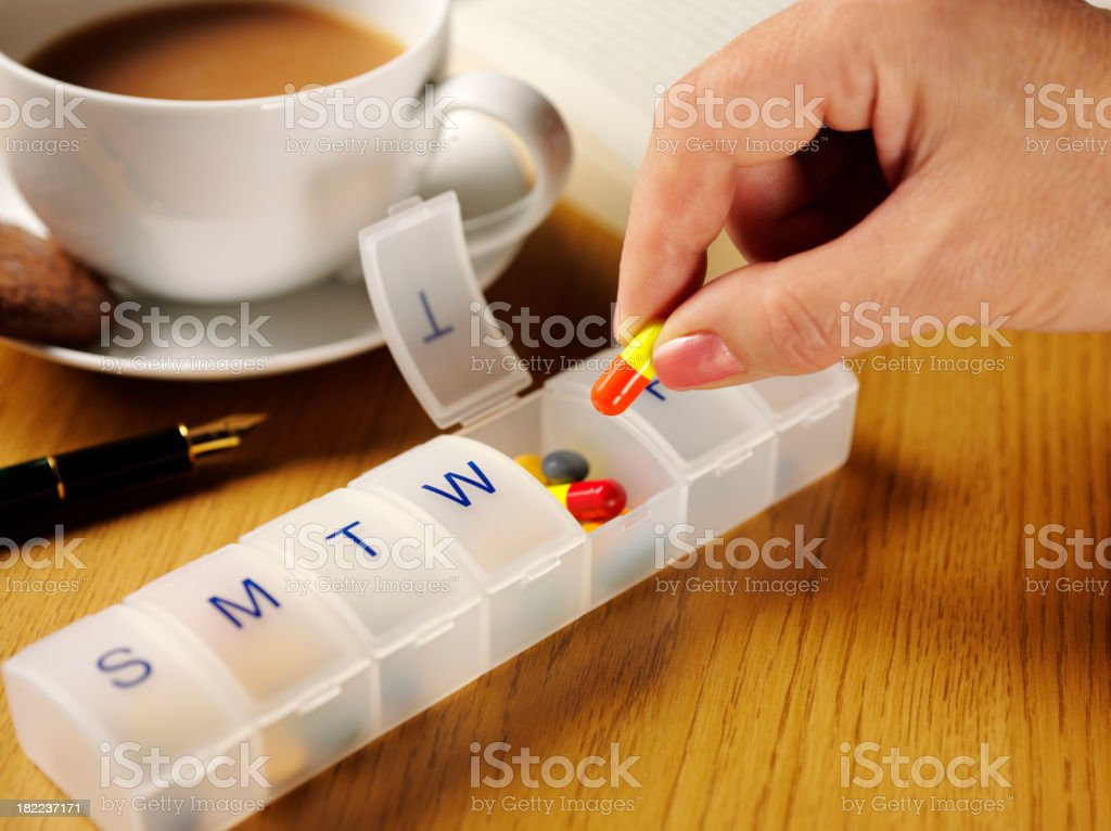 Medical Tablets in a Pill Box stock photo