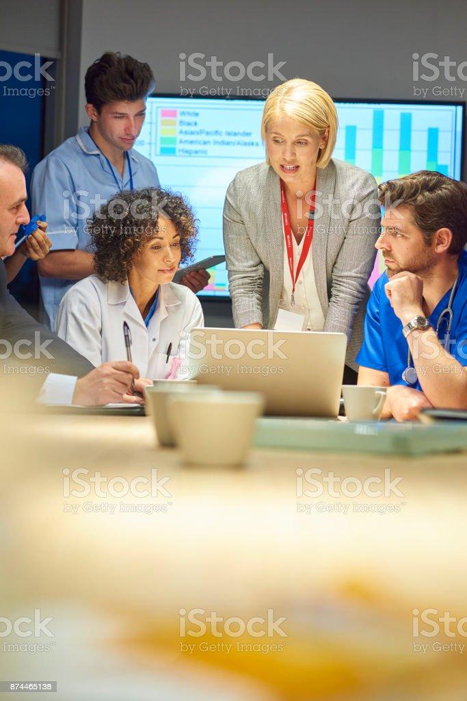 medical team meeting stock photo