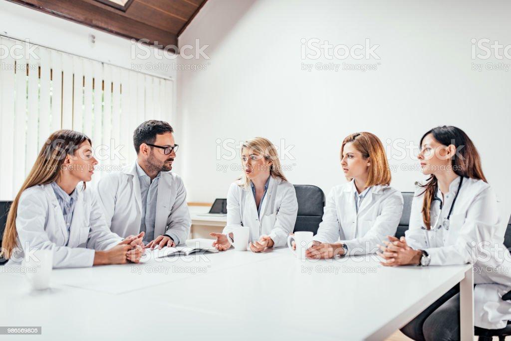 Medical team meeting. stock photo