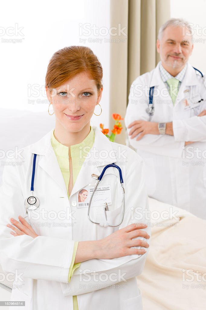 Medical team - portrait two doctor hospital royalty-free stock photo