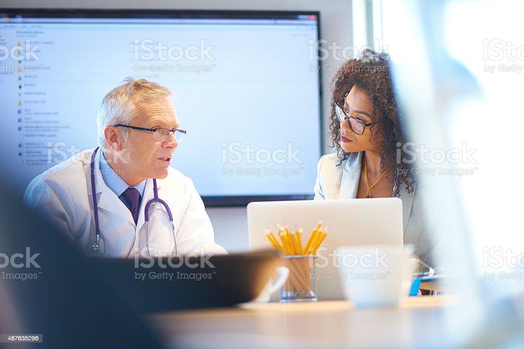 medical team presentation stock photo