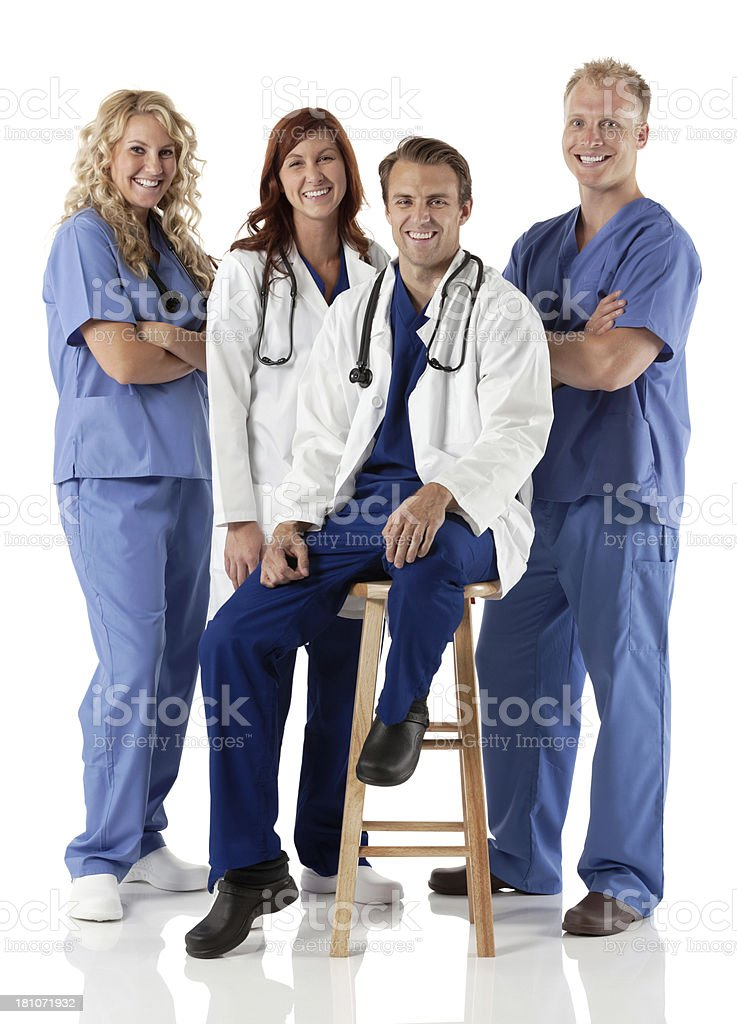 Medical team smiling royalty-free stock photo