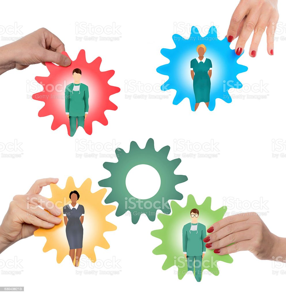 medical teaming stock photo
