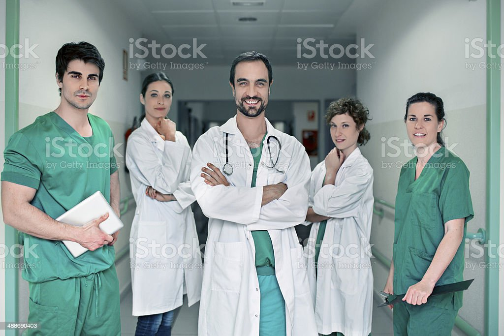 Medical teamwork group stock photo