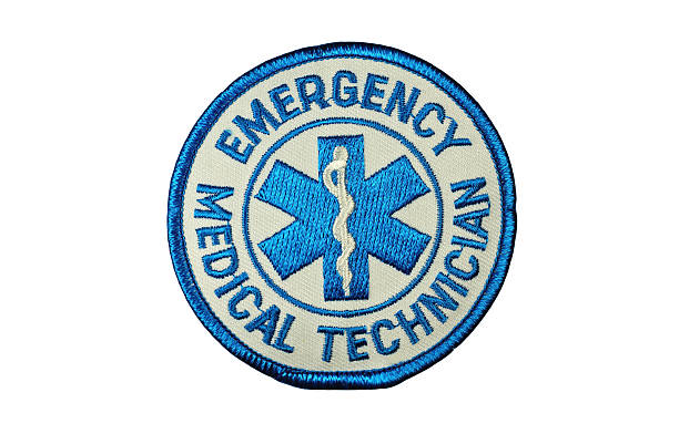 EMT Medical Technician Patch stock photo
