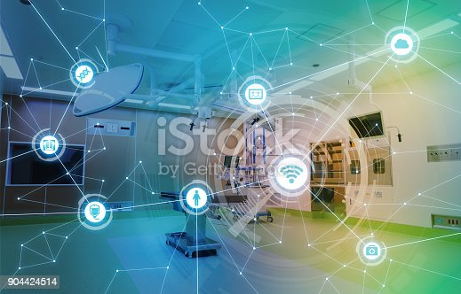istock Medical technology and communication network concept. 904424514